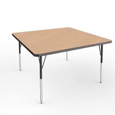 "ECR4Kids 48"" Square Activity Table Side Finish: Black, Leg Type: Standard Leg Standard Nylon Glides"