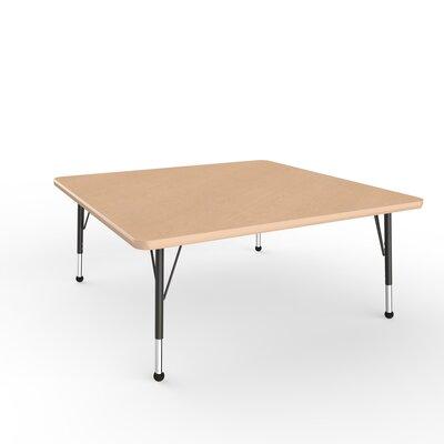 """ECR4Kids 48"""" Square Activity Table Side Finish: Maple, Leg Type: Toddler Leg Ball Glides"""
