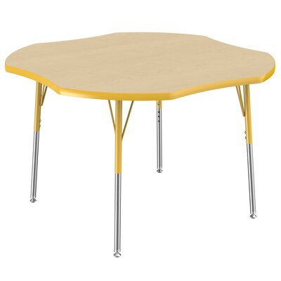 48'' x 48'' Novelty Activity Table Leg Type: Standard with Swivel Glide, Side Finish: Yellow