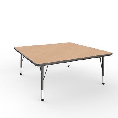 """ECR4Kids 48"""" Square Activity Table Side Finish: Black, Leg Type: Toddler Leg Ball Glides"""