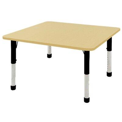 "ECR4Kids 48"" Square Activity Table Side Finish: Maple, Leg Type: Chunky Leg"