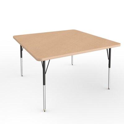 "ECR4Kids 48"" Square Activity Table Side Finish: Maple, Leg Type: Standard Leg Standard Nylon Glides"