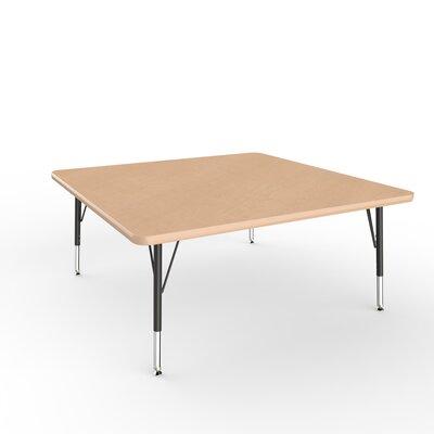 """ECR4Kids 48"""" Square Activity Table Side Finish: Maple, Leg Type: Toddler Leg Standard Nylon Glides"""