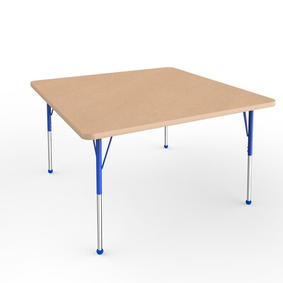 "ECR4Kids 48"" Square Activity Table Side Finish: Blue, Leg Type: Standard Leg Ball Glides"