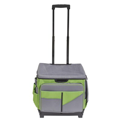 Universal Rolling Cart and Organizer Bag Color: Green