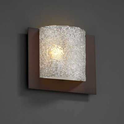 Justice Design Group Framed Veneto Luce Square 3-Sided 1 Light Wall Sconce