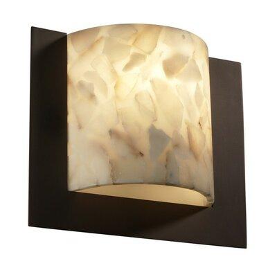 Justice Design Group Alabaster Rocks Framed 1 Light ADA Wall Sconce