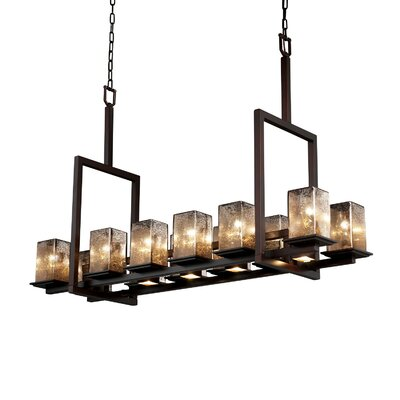 Justice Design Group Montana Fusion 12-Up and 5-Down Light Tall Bridge Chandelier