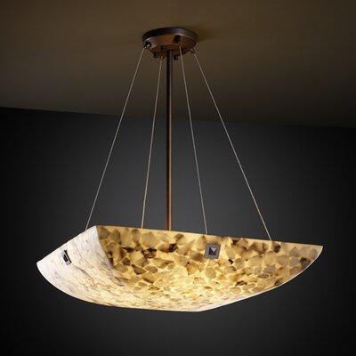 Justice Design Group Alabaster Rocks 3 Light Inverted Pendant