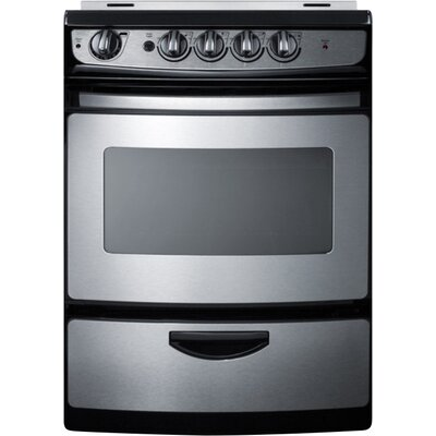 "Summit 24"" Slide-In Smooth-Top Electric Range"