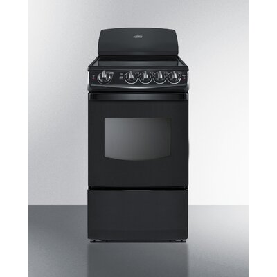 """Summit 20"""" Free-standing Smooth-Top Electric Range"""