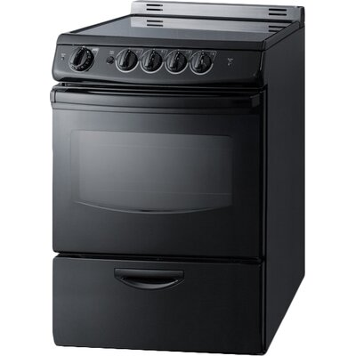 "Summit 24"" Slide-In Smooth-Top Electric Range Color: Black"