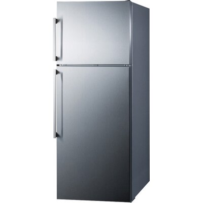 Summit Thin Line 12.6 cu. ft. Counter Depth Top Freezer Refrigerator with LED Lighting