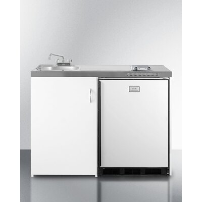 Summit 48-inch Combination Kitchen with Compact Refrigerator-Freezer, Cooktop, Sink, and Cabinet