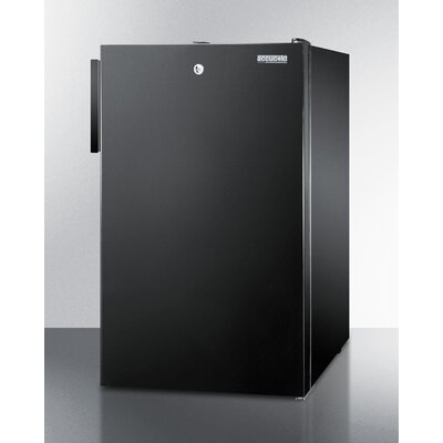 Accucold 2.8 cu.ft. Upright Freezer with Lock Finish: Black