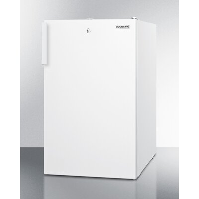 Accucold 2.8 cu.ft. Upright Freezer with Lock Finish: White