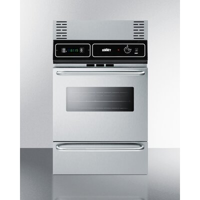 """Summit 24"""" Electric Single Wall Oven Finish: Stainless Steel"""