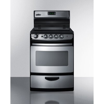 """Summit 24"""" Free-standing Smooth-Top Electric Range"""