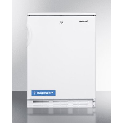 Accucold 23.63-inch 5.5 cu.ft. Compact All-Refrigerator with Lock Color: White