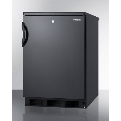 Accucold 23.63-inch 5.5 cu.ft. Compact All-Refrigerator with Lock Color: Black