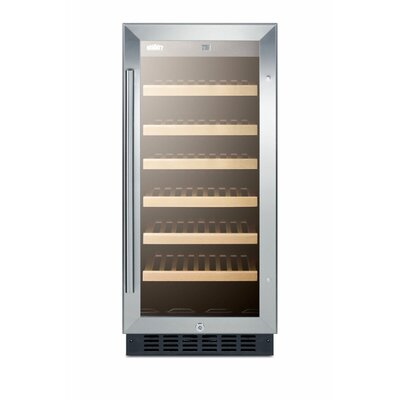 Summit 15-inch 33 Bottle Single Zone Built-In Wine Cooler