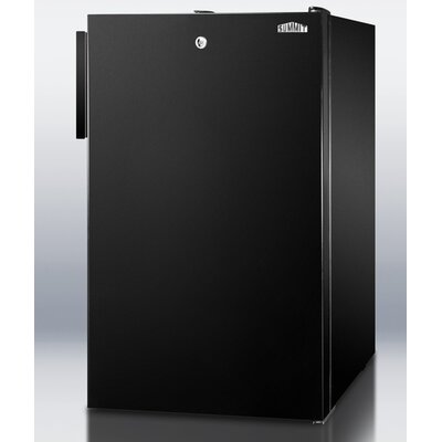 Accucold 19.25-inch 4.1 cu.ft. Compact Refrigerator with Lock Color: Black