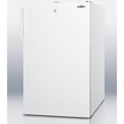 Accucold 19.25-inch 4.1 cu.ft. Compact Refrigerator with Lock Color: White