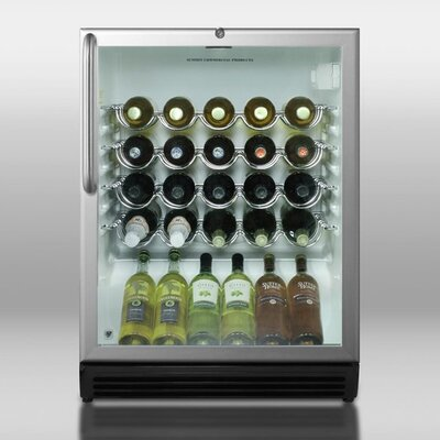Summit Commercial 36 Bottle Single Zone Built-In Wine Cooler Hinge Location: Right, Thermostat: White Wine