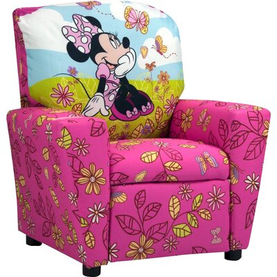 Kidz World Disney Minnie Mouse Cuddly Cuties Kids Cotton Recliner with Cup Holder