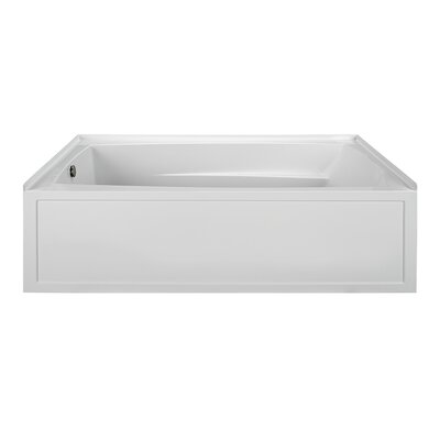 "Reliance 72"" x 42"" Soaking Bathtub Finish: Biscuit, Drain Location: Right"