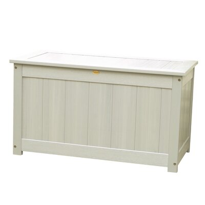 Phat Tommy Wood Deck Box Color: White Wash