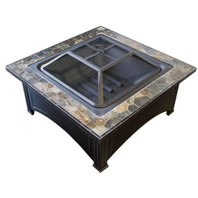 Phat Tommy Steel Wood Burning Fire Pit Table