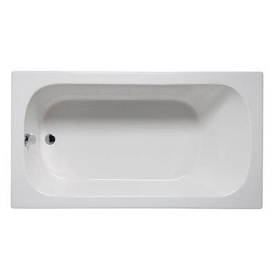 "Miro 66"" x 36"" Drop in Soaking Bathtub Finish: White"