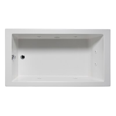 "Wright 60"" x 30"" Drop in Whirlpool Bathtub Finish: Almond"