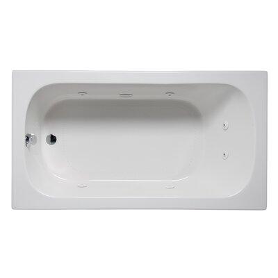 """Miro 66"""" x 32"""" Drop in Whirlpool Bathtub Finish: White"""