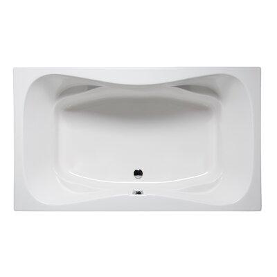 "Rampart II 60"" x 42"" Drop in Soaking Bathtub Finish: White"
