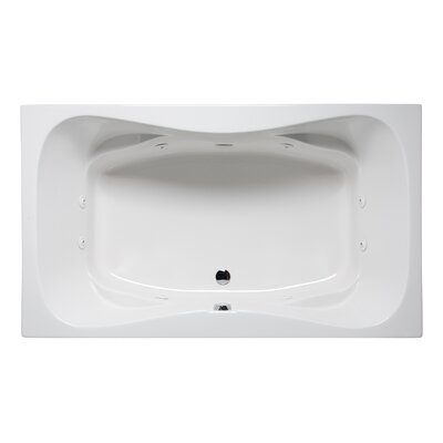 "Rampart II 72"" x 42"" Drop in Whirlpool Bathtub Finish: White"