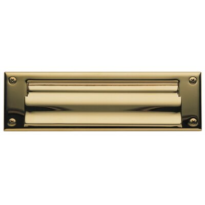 10 in x 3 Mail Slot Color: Gold