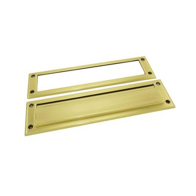 13 in x 3.5 Mail Slot Color: Satin Brass with Brown