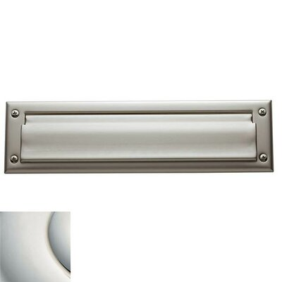13 in x 3.5 Mail Slot Color: Lifetime Bright Nickel