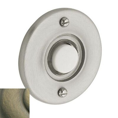 Round Doorbell Button Color: Antique Brass