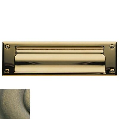 10 in x 3 Mail Slot Color: Antique Brass