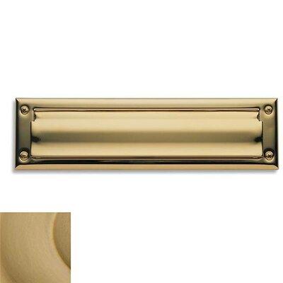 13 in x 3.5 Mail Slot Color: Vintage Brass