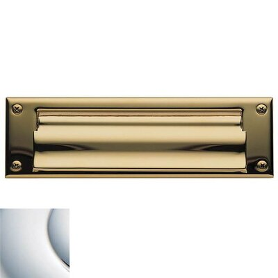 10 in x 3 Mail Slot Color: Bright Chrome