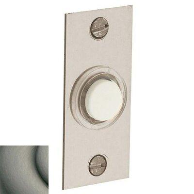 Rectangular Doorbell Button Color: Antique Nickel