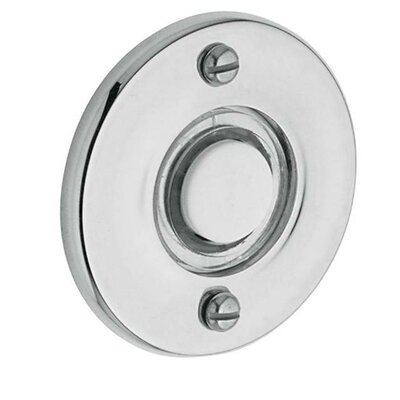Round Doorbell Button Color: Bright Chrome