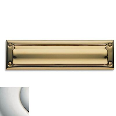 13 in x 3.5 Mail Slot Color: Bright Nickel