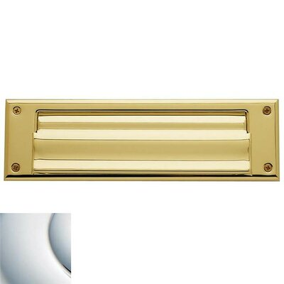10 in x 3 Mail Slot Color: Lifetime Polished Brass