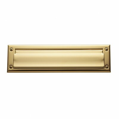 13 in x 3.5 Mail Slot Color: Lifetime Polished Brass