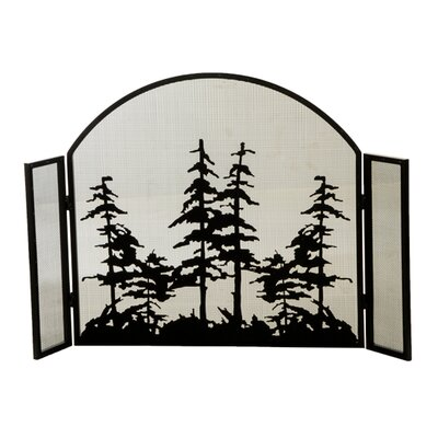 Tall Arched Folding 3 Panel Fireplace Screen
